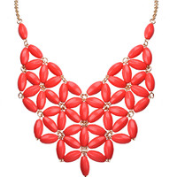 Exaggerated Bib Resin Statement Necklace