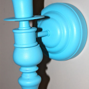 Vintage Aqua Candle Sconce by AquaXpressions on Etsy