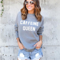 Grey Letter Print Sweater