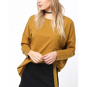 Easy Tie Tee in Camel