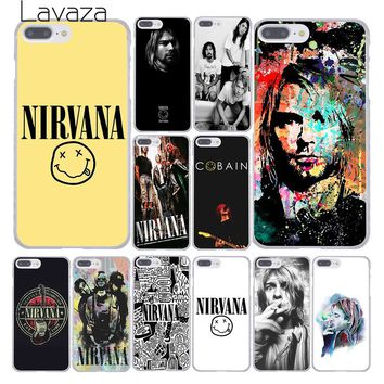 Lavaza Nirvana Kurt Cobain Fashion Hard Skin Phone Cover Case for Apple iPhone 10 X 8 7 6 6s Plus 5 5S SE 5C 4 4S Coque Shell