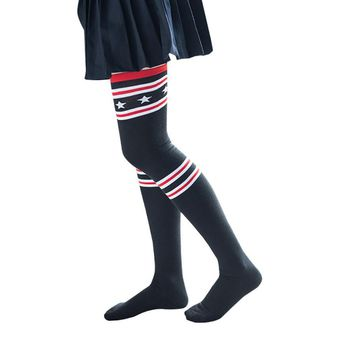 Thigh High Socks Over Knee Star Stripe