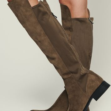 Jamie Over The Knee Boot (Taupe)