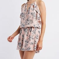 RUFFLED STRAPPY ROMPER