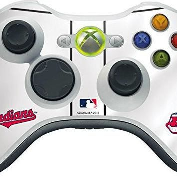 MLB Cleveland Indians Xbox 360 Wireless Controller Skin - Cleveland Indians Home Jerse