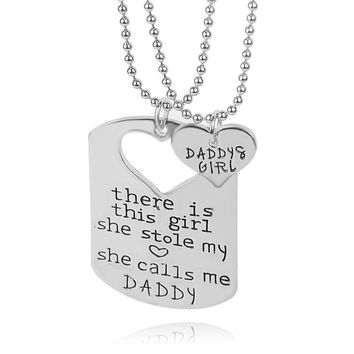Daddys Girl Necklaces 2 pc