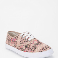 Urban Outfitters - Gold Medallion Print Plimsoll Sneaker