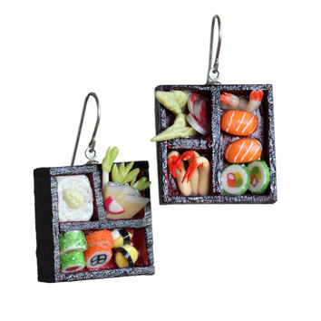 Dollhouse sushi earrings