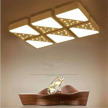 Modern Luxury Crystal Chandelier Bedroom Living Room Led Dimmable Chandeliers Rectangle Light Fixtures indoor Lustre de led lamp