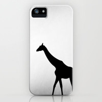 Giraffe in Silhouette iPhone Case by hhprint | Society6