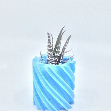 3D Printed Star twist Planter, Succulent Planter, Air plant holder, Flower pot, Home Decor, Fall decor, Made in the USA