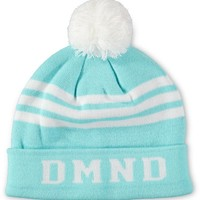 Diamond Supply Co DMND Diamond Blue & White Pom Fold Beanie