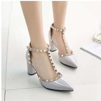 High Quality Buckle High Heels
