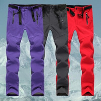 Outdoor Women men fleece winter WaterProof Windproof SoftShell Pants Hiking Camping trekking thermal skiing Trousers Sportswear