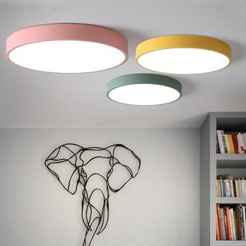 Colorful Modern Ceiling Chandeliers Lamps