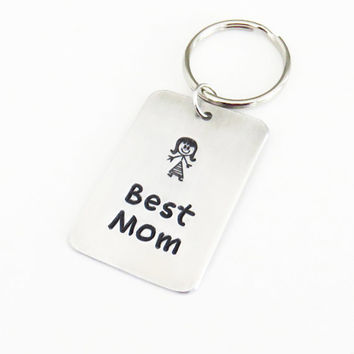 Best Mom keychain keyring or pendant necklace - Mom birthday gift - Mother's day gift