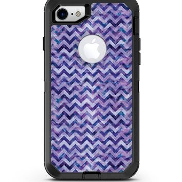 Purple Basic Watercolor Chevron Pattern - iPhone 7 or 8 OtterBox Case & Skin Kits