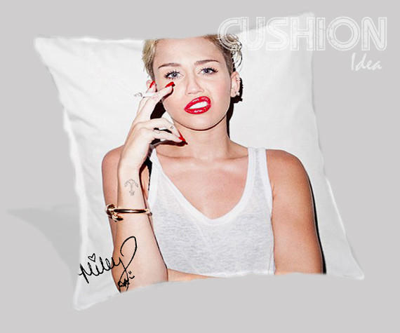 Miley Cyrus Pillow Cover From Cushionidea.com
