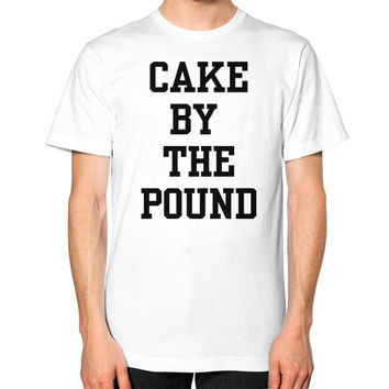 CAKE BY THE POUND Unisex T-Shirt (on man)