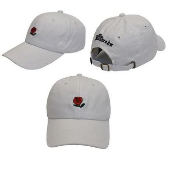ONETOW Day-First? White The Hundreds Rose Strap Cap Adjustable Golf Snapback Baseball Hat