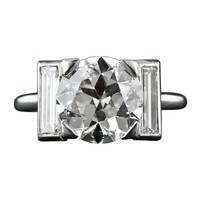 Cartier 3.28 Carat Art Deco Diamond Ring