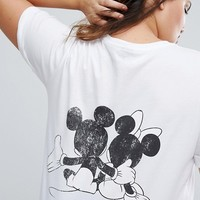 ASOS CURVE T-Shirt with Mickey and Minnie Print at asos.com