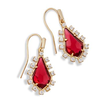 Kendra Scott Juniper Clear Berry CZ Drop Earrings
