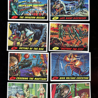 MARS ATTACKS Topps 1994 Vintage Card Lot of 8 cards,includes number 1,Excellent Condition Free Shipping