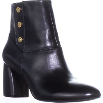 Nine West Kirtley Ankle Boots, Black Leather, 11 US