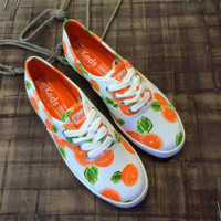 Orange Pattern Summer Fashion Style Shoes for Women
