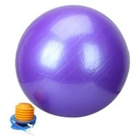75cm Explosion-proof Thickening Exercise Fitness Yoga Body Balance Ball (Purple)