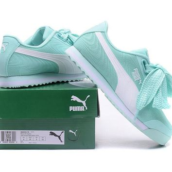 PUMA Roma TK Graphic Sneakers Women Bow Casual Sport Shoes-2
