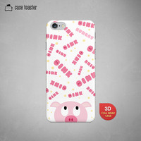 "Kawaii pink pig oinking  - iphone 6 case (4.7""), iphone 6 plus case (5.5""), iphone 5C case, iphone 5S case, iphone 4S case"
