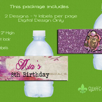 Bottle Labels-DIY-Custom-Personalized-Ever After High