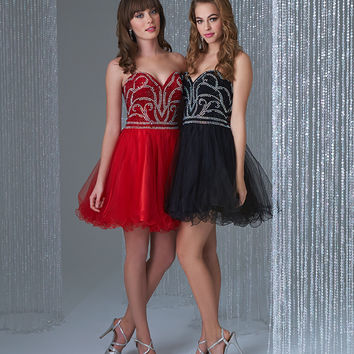 Madison James 16-305 Jeweled Homecoming Cocktail Dress
