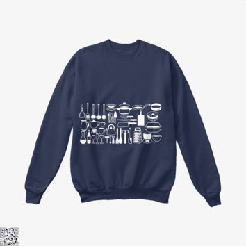 All My Cookware, Chef's Crew Neck Sweatshirt