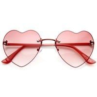 Cute Summer Colorful Heart Shape Womens Sunglasses 8797