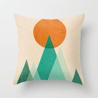 No mountains high enough Throw Pillow by Budi Satria Kwan