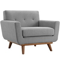 Engage Upholstered Fabric Armchair Expectation Gray EEI-1178-GRY