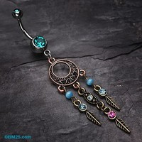 Beautiful Vintage Style Dream Catcher Belly Ring