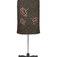 Winter rose tweed skirt