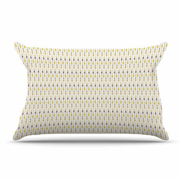 "Petit Griffin ""Golden Arrows"" Gold Yellow Pillow Sham"