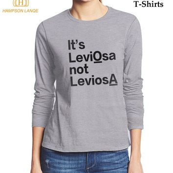 494643f9 HAMPSON LANQE Long Sleeve T-Shirt Women It's LeviOsa NOT LeviosA