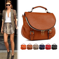 Womens Handbag Cross Body Bag Satchel Purse Faux Leather Shoulder Messenger Tote