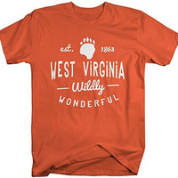Shirts By Sarah Men's West Virginia State Pride Shirt Wildly Wonderful Shirts Est. 1863