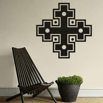 DCK9M2 Combination Of Four Cross Tapy Decorative Stickers  Muslim Culture Wall Stickers Home Decoration