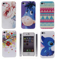 Cute Stitch Owl Donkey Sign Hard Back Shell Case Cover Housing for i Phone 4 4S