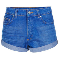 MOTO High Waisted Denim Shorts - Topshop USA