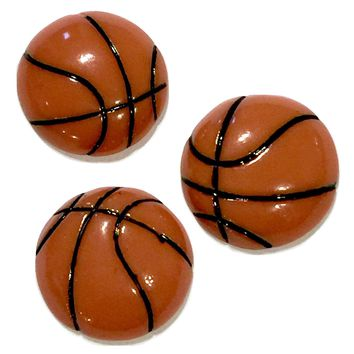 Basketball resin cabochon 15mm / 1-5 pieces