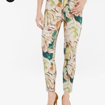 Chico's Sateen Printed Jeans